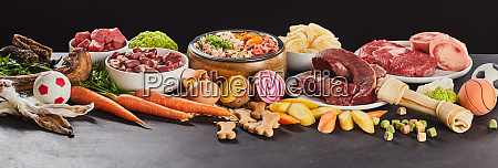 panorama banner with assorted fresh foods