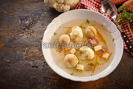 bowl of german spring soup on