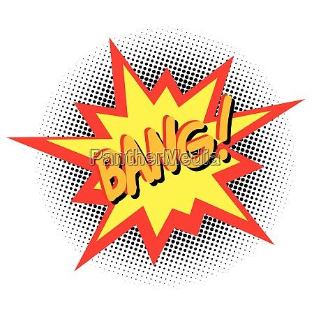 bang comic cartoon pop art vector