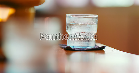 iced water in restaurant
