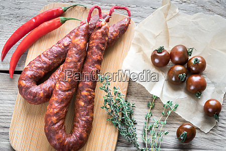 chorizo with cherry tomatoes