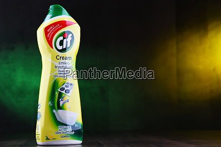 container of cif products by unilever