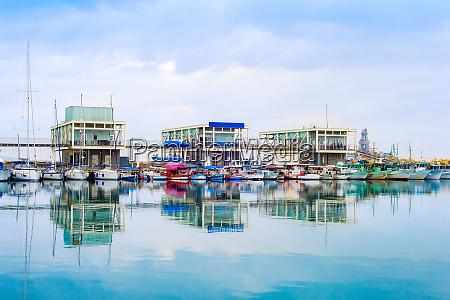 marina with restaurants limassol cyprus