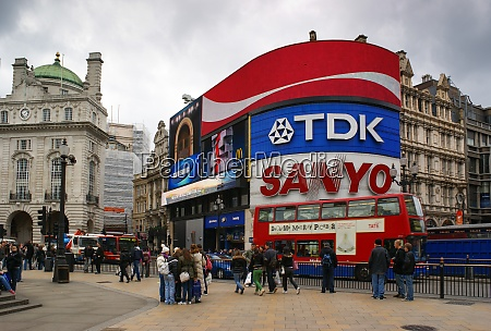 picadilly circus london great britain with