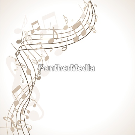 musik background with colorful notes