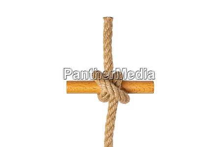 rope isolated closeup of figure clove