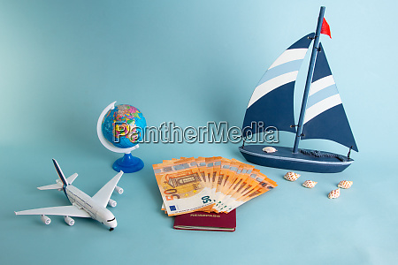 summer vacation concept with plane and