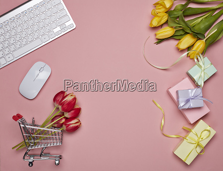 shopping, trolley, and, computer., internet, shop - 26650073