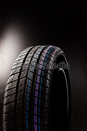 winter tyre isolated