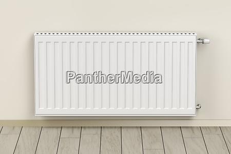 white heating radiator in the room