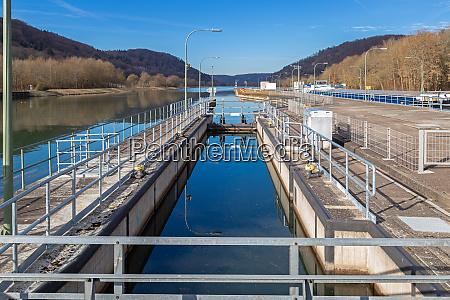 lock of the main danube canal