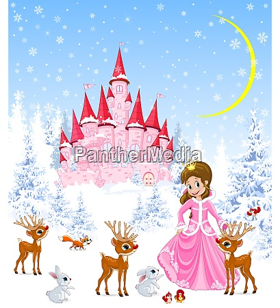 little princess and deer