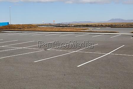empty parking places