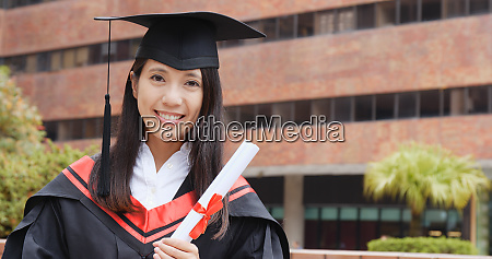 woman think of future with graduation