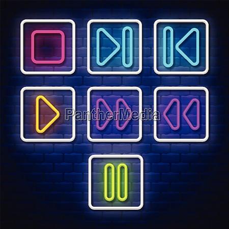 big collection neon music symbols neon