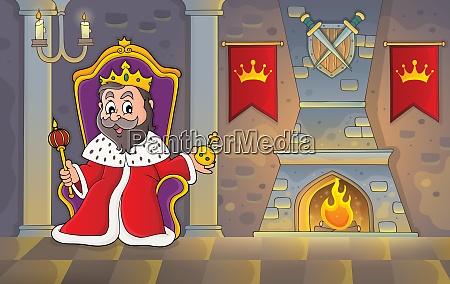 king on throne theme image 2