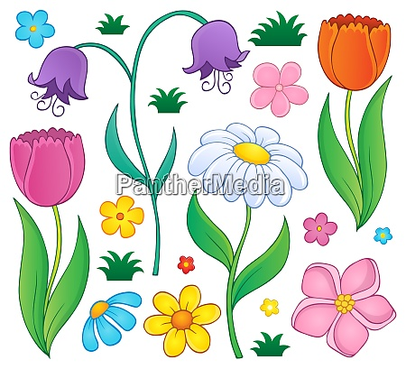 spring flowers thematic set 4