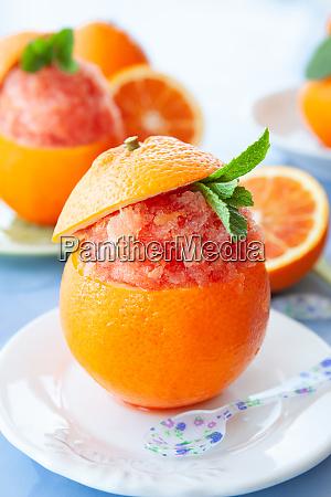 refreshing orange sorbet