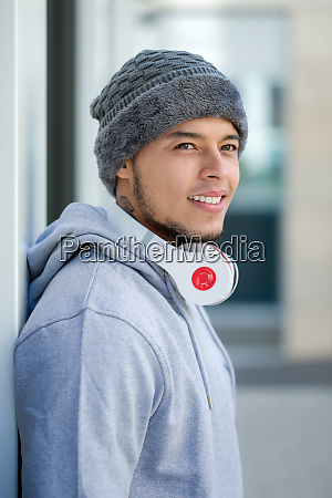 sports training young latin man winter