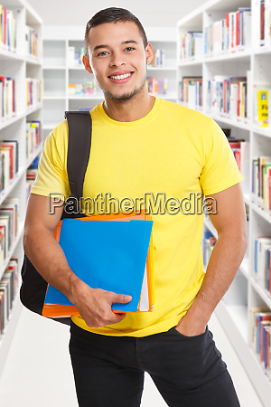 student young man portrait format library
