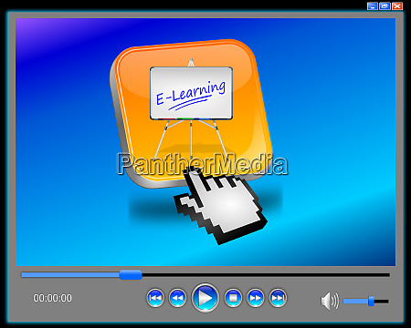 media player with orange e learning