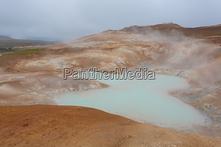 leirhnjukur mud pools day view iceland