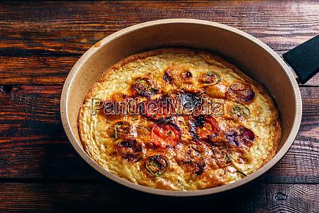 frittata with chorizo tomatoes and chili