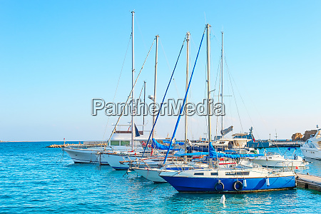 yachts in larnaca marina cyprus