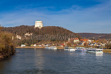 view over danube river to liberation