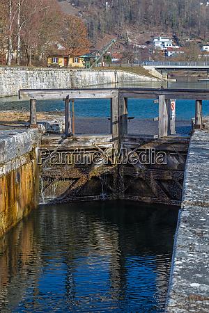 lock at historic ludwig danube main