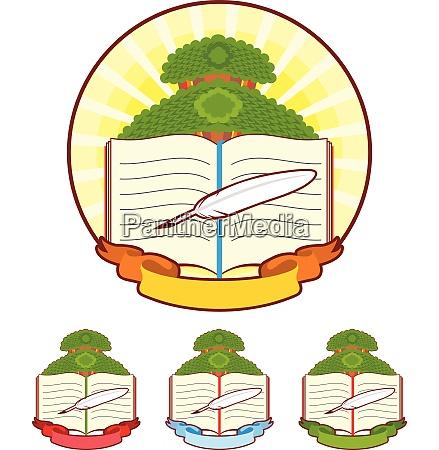 book tree emblem