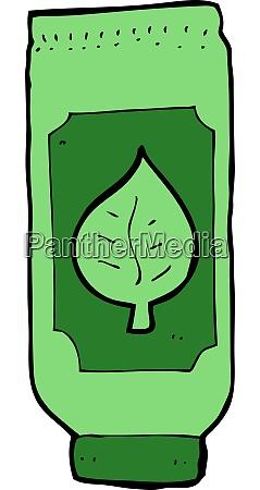 cartoon herbal remedy