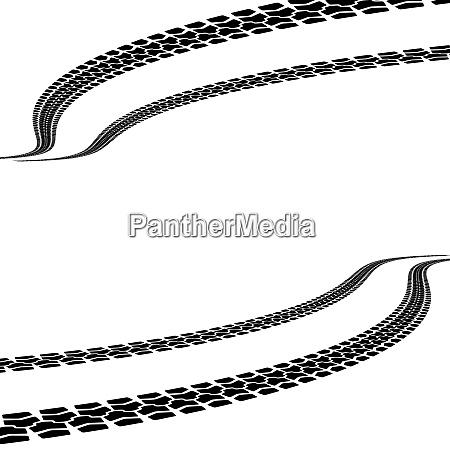 tire prints vector illustration