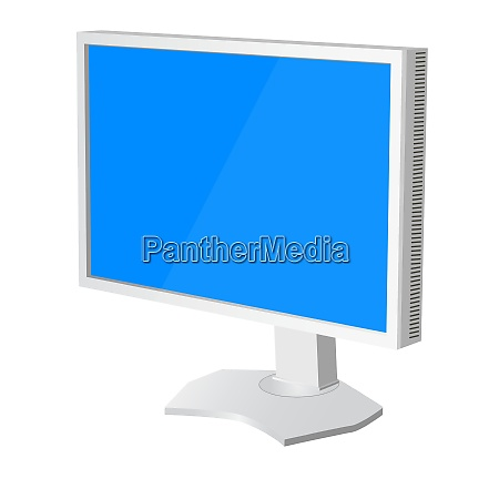 lcd tv monitor on white