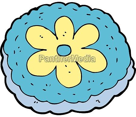 cartoon baked biscuit