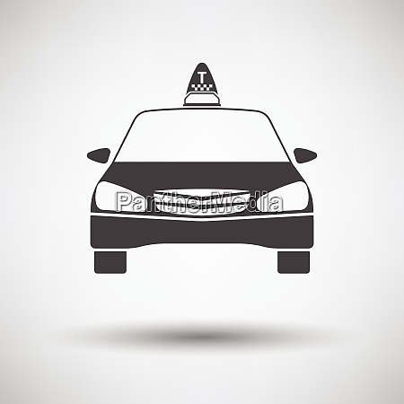 taxi icon front view