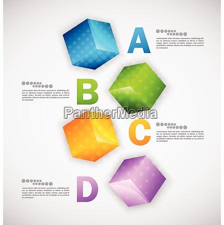 cubes design infographic