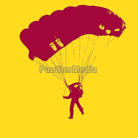 parachutist jumper in the helmet after