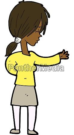 cartoon woman gesturing