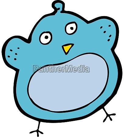 cartoon fat bird
