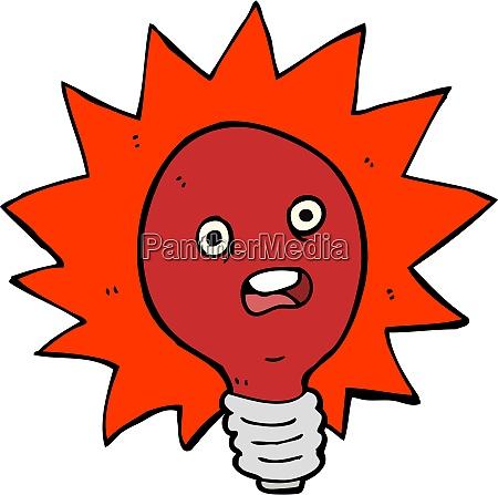 cartoon red lightbulb