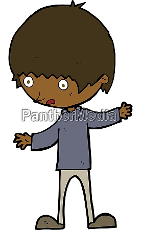 cartoon boy with outstretched arms