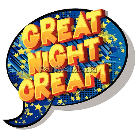 great night cream comic book