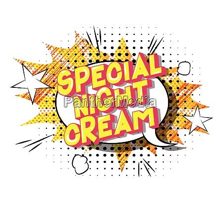 special night cream comic book
