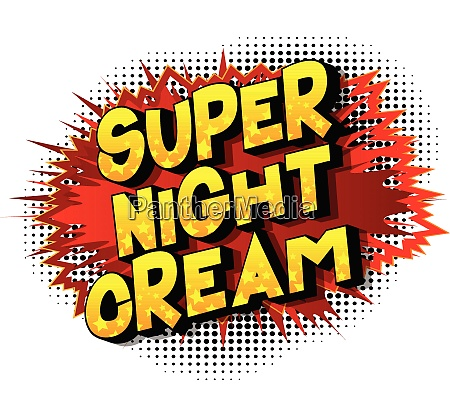 super night cream comic book