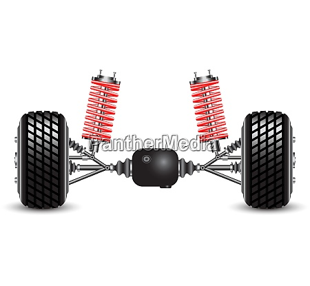 rear suspension of the car springs