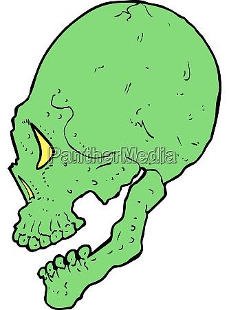 spooky skull illustration