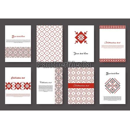 set of flyers set of ethnic