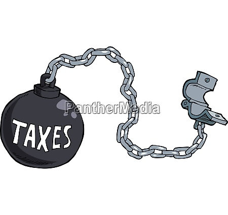 tax shackles on white background vector