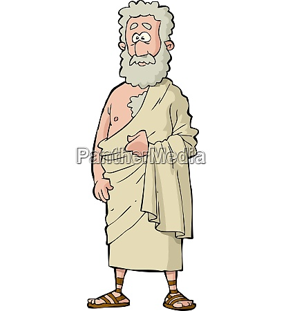 roman philosopher on a white background